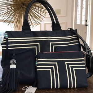 Tory Burch Sport Navy Canvas Tote
